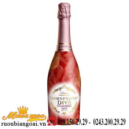 Rượu Vang Hoa Quả Cosmopolitan Diva Strawberry Mint Fusion