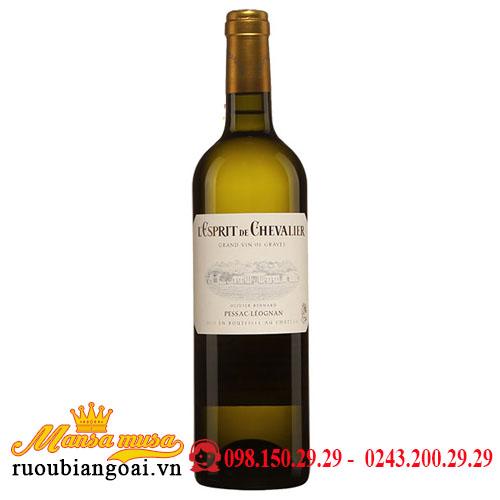 Rượu Vang L'esprit De Chevalier Blanc