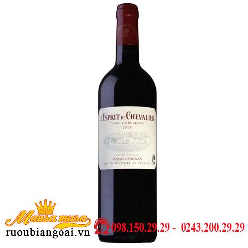 Rượu Vang L'esprit De Chevalier Red