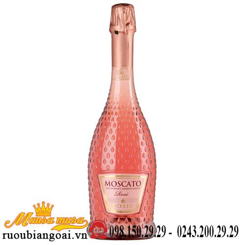 Rượu Vang Nổ Moscato Rose Bosio