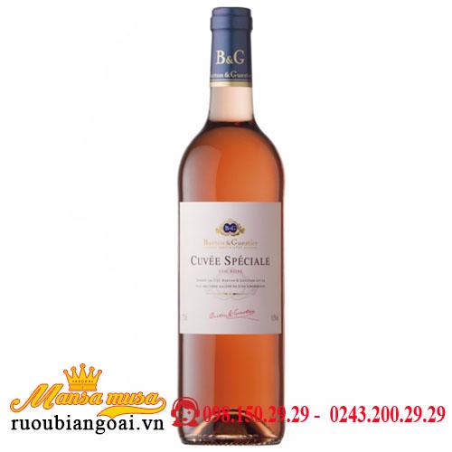 Rượu Vang Pháp B&G Cuvee Speciale Rose-VIN Rose