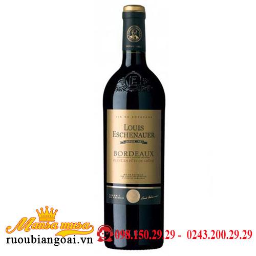 Rượu Vang Pháp Bordeaux Louis Eschenauer Eleve Fut de Chene (Barriq đỏ)