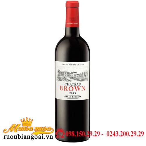 Vang Pháp Chateau Brown Rouge 2013