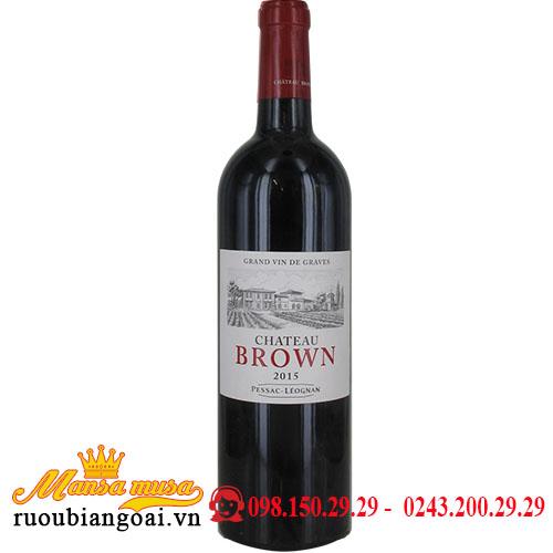Vang Pháp Chateau Brown Rouge 2015