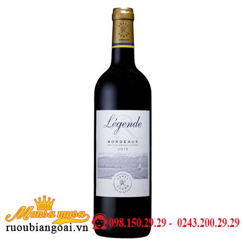 Rượu Vang Pháp DBR (Lafite) Legendé Bordeaux Rouge