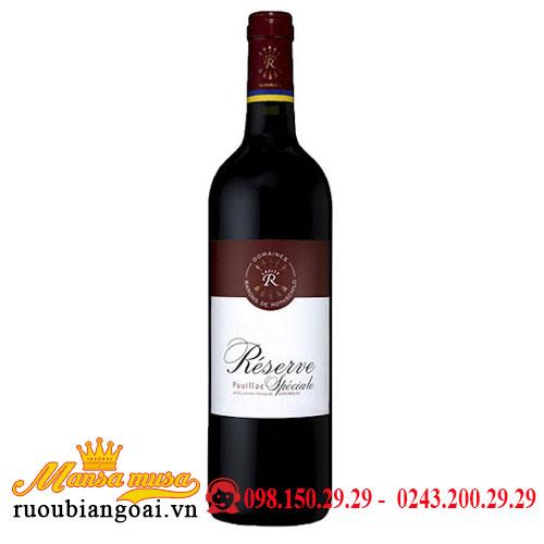 Rượu Vang Pháp DBR (Lafite) Legendé Reserve Speciale Pauillac