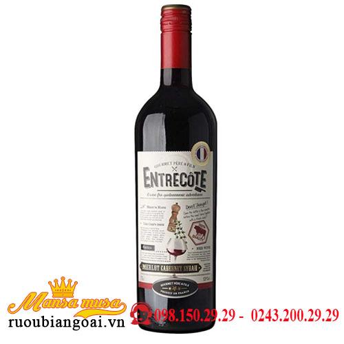 Rượu Vang Pháp Entrecote Melot/Cabernet/Syrah VDP