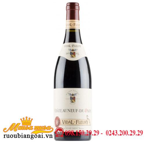 Rượu Vang Pháp Vidal Fleury Chateauneuf Du Pape 2015