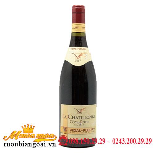 Rượu Vang Pháp Vidal Fleury La Chatillonne Cote Rotie 2007