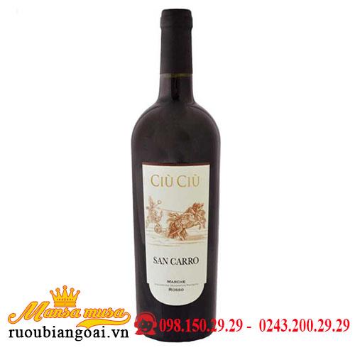 Rượu Vang Ý Ciù Ciù San Carro
