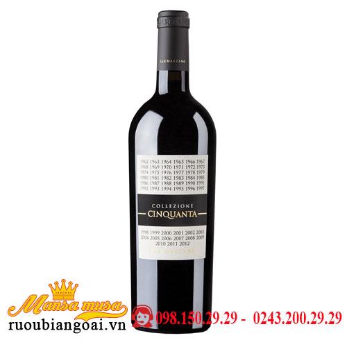 Rượu Vang Ý Collezione Cinquanta
