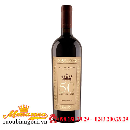 Rượu Vang Ý Cuvee Cinquantenario Anniversario Vino Rosso d'Italia