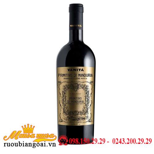 Rượu Vang Ý Vanitá Primitivo di Manduria Vendemmia