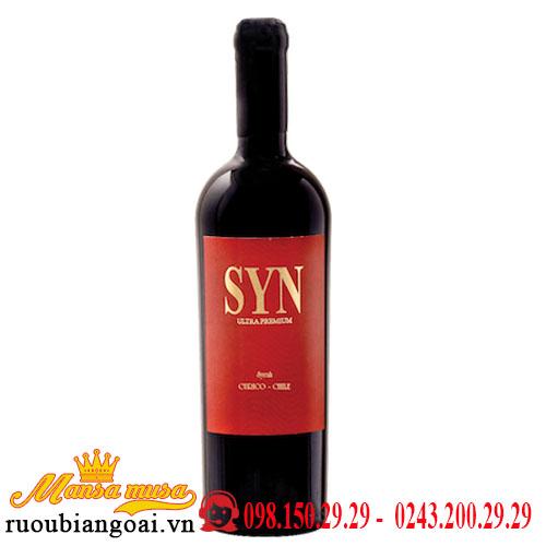 Vang Chile SYN Ultra Premium Syrah
