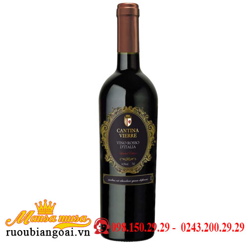 Vang Ý Cantina Vierre Limited Edition Vino Rosso D'italia