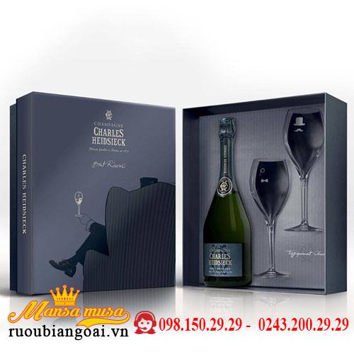 Champagne Charles Heidsieck Brut Réserve (giftbox + 2 glasses)