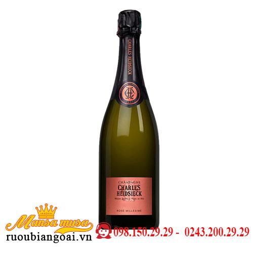 Rượu Sâm Panh Champagne Charles Heidsieck Rosé Millésimé