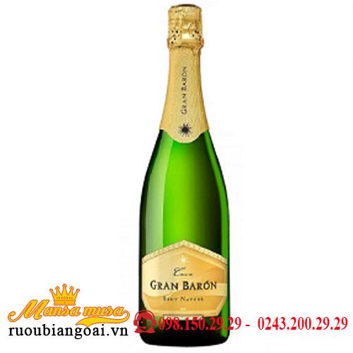 Rượu Champagne Gran Baron Cava Brut Nature