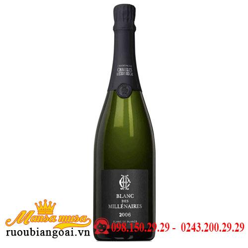 Rượu Champagne Charles Heidsieck Blanc Des Millénaires 2006