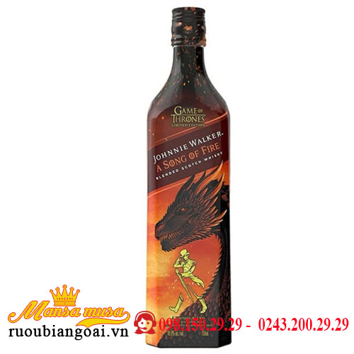 Rượu Johnnie Walker A Song Of Fire Game of Thrones