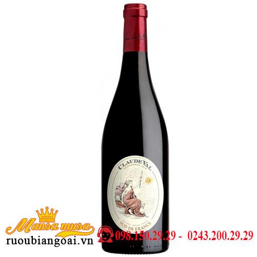 Rượu vang Claude Val Rouge Sud De France