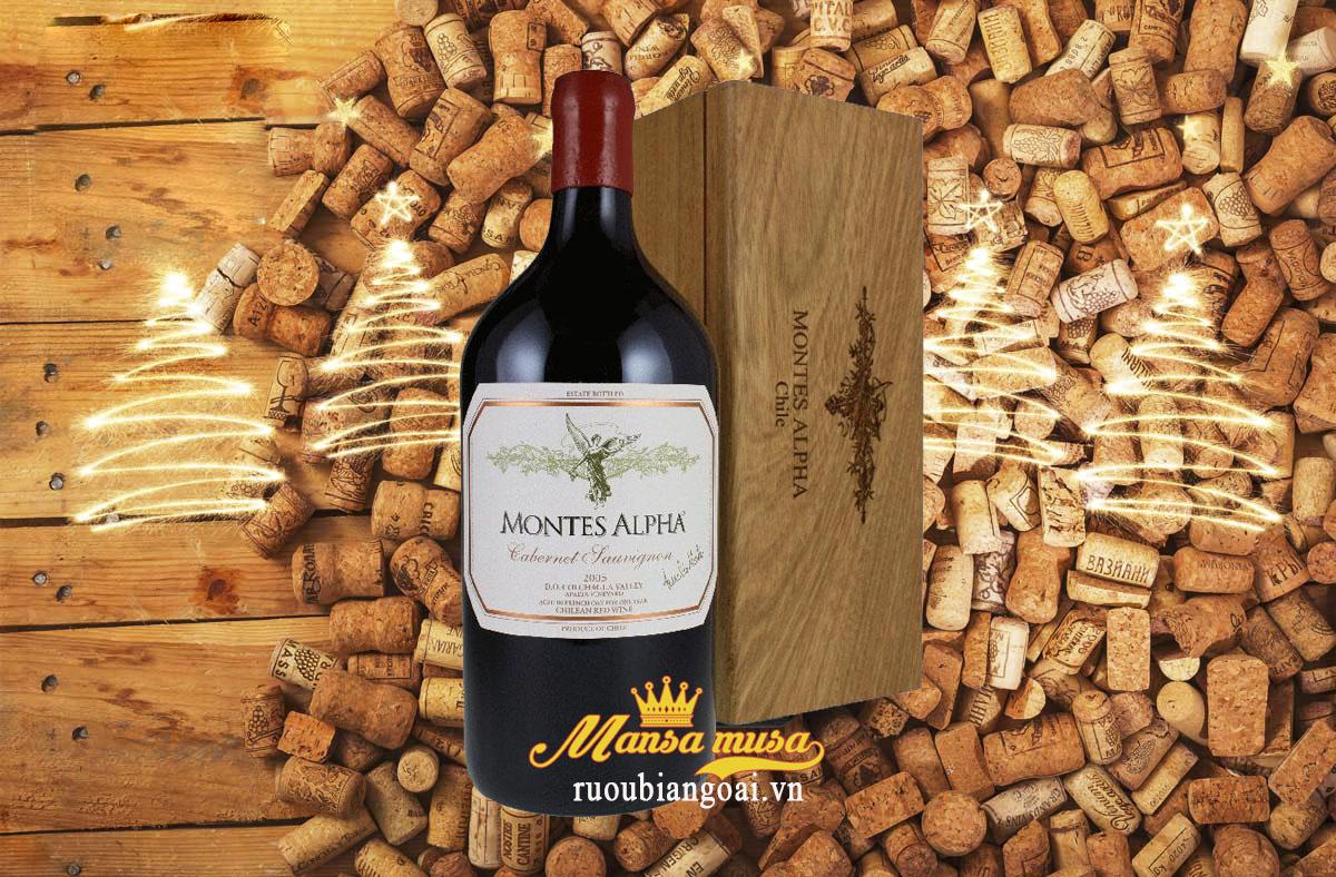 Rượu Vang Chile Montes Alpha Cabernet Sauvignon 3000ml