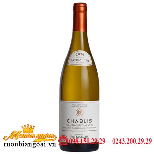 Rượu Vang Patriarche Chablis Grand Cru Valmur 2014