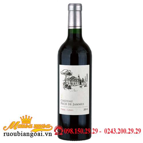 Rượu Vang Pháp Chateau Pech De Jammes 2014