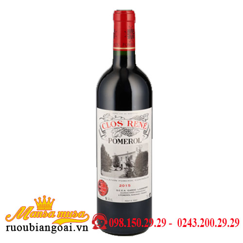 Rượu Vang Pháp Clos Rene Pomerol 2015