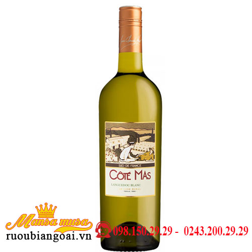 Rượu Vang Pháp Cote Mas Languedoc Blanc