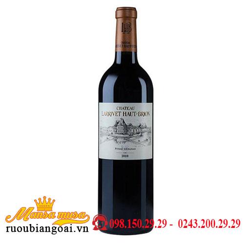Rượu Vang Chateau Larrivet Haut Brion 2010   Rượu Vang Pháp
