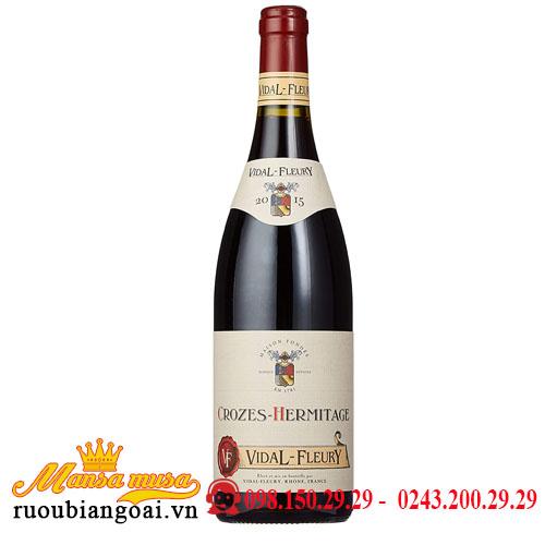 Rượu Vang Vidal Fleury Crozes Hermitage 2015   Rượu Vang Pháp