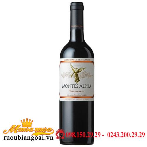 Rượu Vang Chile Montes Alpha Carmenere