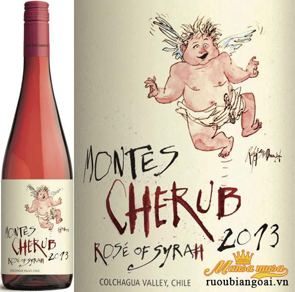 Rượu Vang Chile Montes Cherub Rose Of Syrah