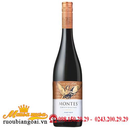 Rượu Vang Montes Limited Selection Pinot Noir   Rượu Vang Chile