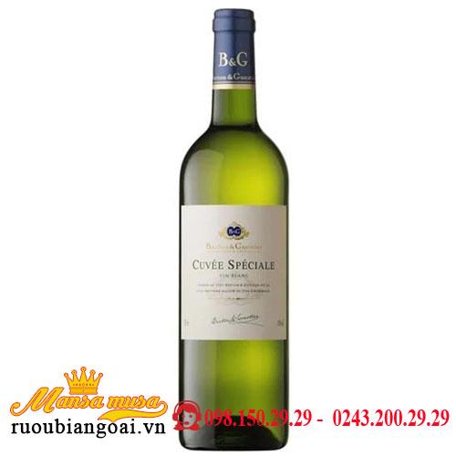 Rượu Vang B&G Cuvee Speciale Blanc VIN Blanc   Rượu Vang Pháp