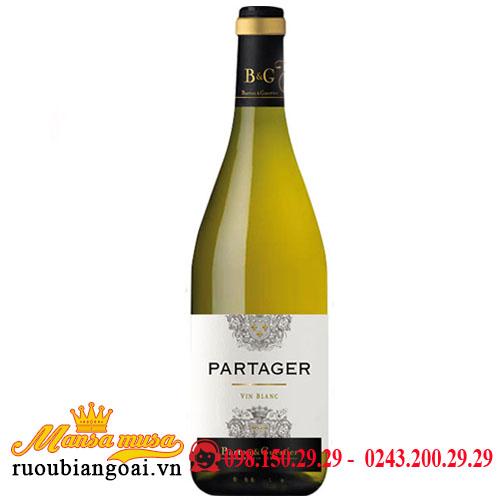 Vang B&G Partager Blanc VIN Blanc