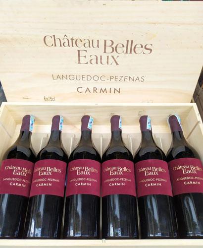 Rượu Vang Pháp Chateau Belles Eaux Languedoc Pezenas Carmin