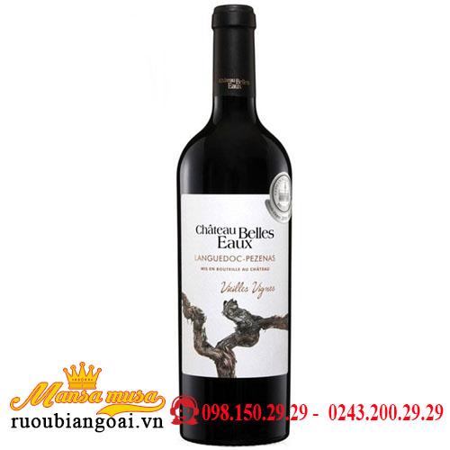 Rượu Vang Pháp Chateau Belles Eaux Languedoc Pezenas Vieille