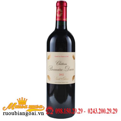 Rượu Vang Chateau Branaire - Ducru 2012 | Rượu Vang Pháp