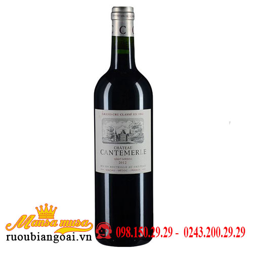 Vang Chateau Cantemerle 2012