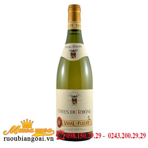 Vang Vidal Fleury Cotes Du Rhone Blanc 2017