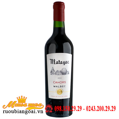 Vang Matayac Cahors Malbec