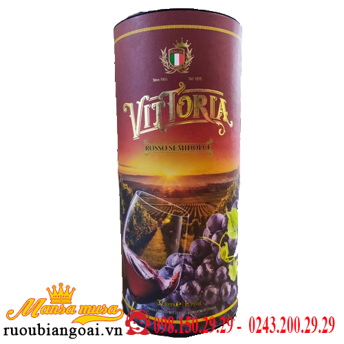 Vang Ống Ngọt Vittoria Rosso Semidolce